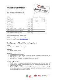 VVT-Tarif-Übersicht (44 KB) - .PDF - Kufstein