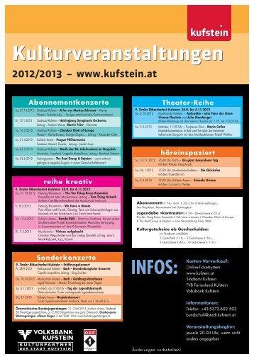 Städtisches Kulturprogramm 2012/2013 - Kufstein