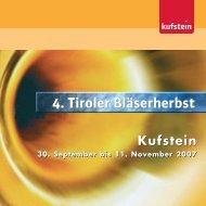 4. Tiroler Bläserherbst - Kufstein