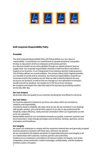 3  cr policy on company letterhead