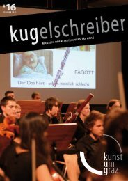 KUGelschreiber - Universität für Musik und darstellende Kunst Graz
