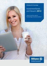 Investmentfonds und Steuern 2012 - Allianz Global Investors