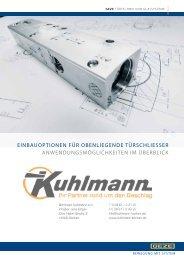 Geze Einbausituation OTS - Kuhlmann Borken