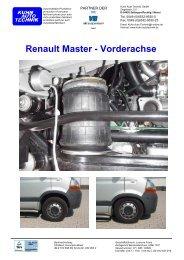 Renault Master - Vorderachse - Kuhn Auto Technik GmbH