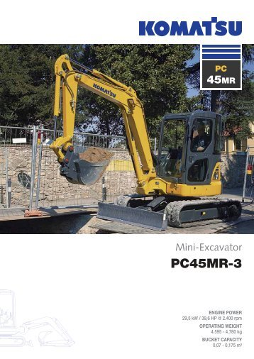 to download brochure of Mini Excavator PC45MR-3 - komatsu europe
