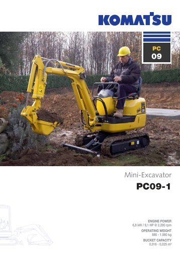 to download brochure of Mini Excavator PC09-1 - komatsu europe