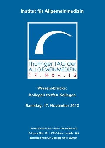 Tag der Allgemeinmedizin - Institut für Allgemeinmedizin, Jena