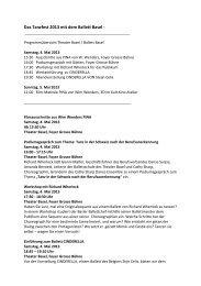 Das Tanzfest 2013 mit dem Ballett Basel - Texte für ... - kult.kino Atelier
