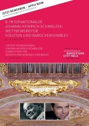 8. internationaler johann heinrich schmelzer - Kultur Melk