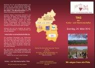 Sonntag, 24. März 2013 - Kultur- und Weinbotschafter