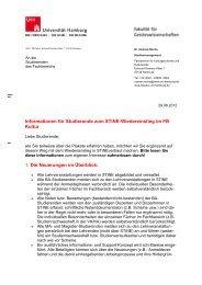 Informationen für Studierende zum STiNE-Wiedereinstieg im FB ...