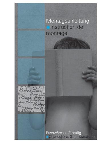 Montageanleitung Installation Instructions Instructions De Montage