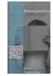 Bedienungsanleitung Mode d'emploi - Kuhn und Bieri AG