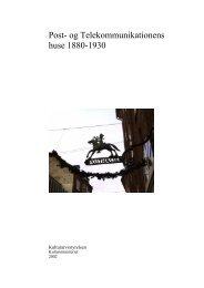 Post- og Telekommunikationens huse 1880-1930 (PDF-format