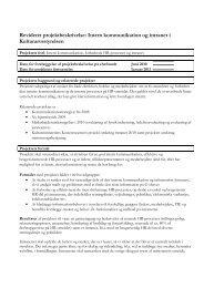 Bilag 1 - Projektbeskrivelse intern kommunikation og intranet i pdf