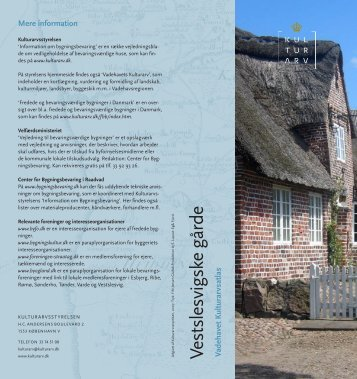 Vestslesvigske gårde (PDF-format) - Kulturstyrelsen