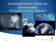 Kommunikation in Zeiten des Klimawandels - KuK Klimawandel und ...