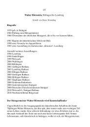 1/5 Walter Hörnstein, Höfingen bei Leonberg Biografie ... - Neubeuern