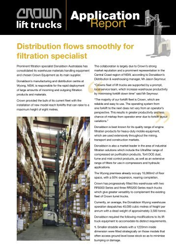Distribution flows smoothly for filtration specialist. - Crown ...