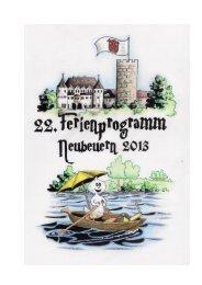 Ferienprogramm 2013 - Neubeuern