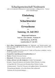 Schachgemeinschaft Neubeuern Einladung Schachturnier ...