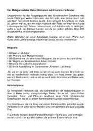 Der Metzgermeister Walter Hörnstein wird ... - Neubeuern