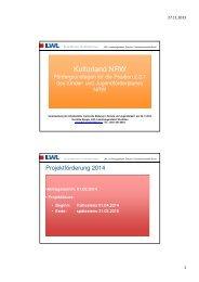 Kulturland NRW_r2014 - Kulturelle Bildung in Schule und ...