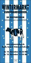 WINTERMARKT - kulturforum DIESSEN
