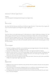 Kulturforum St. Michael Lingen (Ems) e.V. Satzung in der Fassung ...