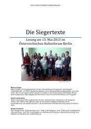 Die Siegertexte - Österreichisches Kulturforum Berlin