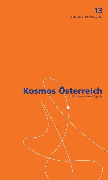 kosmos 13 pdf - Österreichisches Kulturforum Berlin