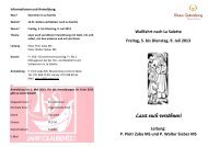 Informationen zu Angebot und Leistung - Kulturhirsch