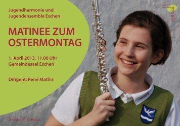 MATINEE ZUM OSTERMONTAG 1. April 2013, 11.00 ... - Kulturhirsch