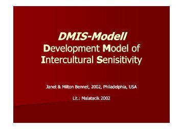 """Development Model of Intercultural Senisitivity""_©Janet & Milton ..."
