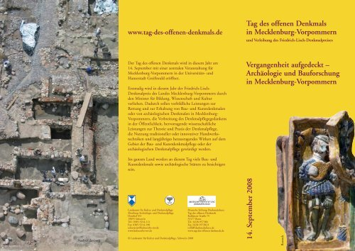 Tag des offenen Denkmals in Mecklenburg ... - Kulturportal