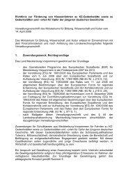 Richtlinie zur Förderung von Gedenkstättenfahrten