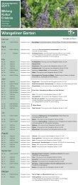 Eine Übersicht des Programms für 2011 finden Sie ... - Kulturportal