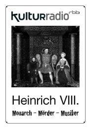 Heinrich VIII. von England - Kulturradio