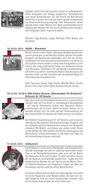 März, April 2013 - Bochumer Kulturrat eV