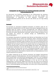 Börsenvereins - Deutscher Kulturrat