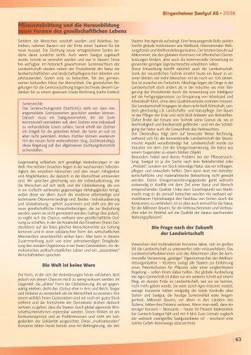 Pflanzenzüchtung und die Herausbildung neuer ... - Kultursaat eV
