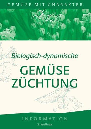 "Broschüre ""Biologisch-dynamische Gemüsezüchtung"" - Kultursaat eV"