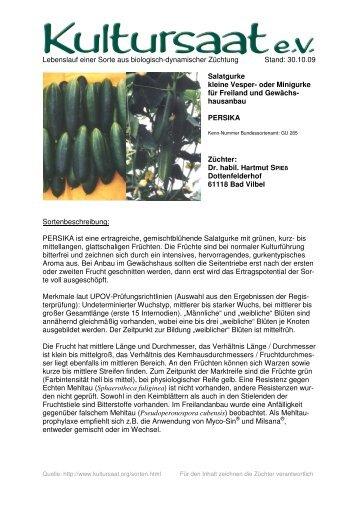 PERSIKA - Lebenslauf einer Sorte aus biologisch ... - Kultursaat eV