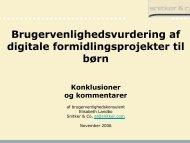Brugervenlighedsvurdering af digitale formidlingsprojekter til børn