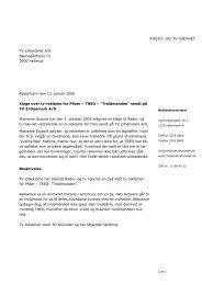 Klage over tv-reklame for Pfizer – TREO ... - Kulturstyrelsen