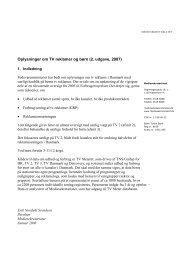 Oplysninger om TV reklamer _revision 2008_ _2_ - Kulturstyrelsen