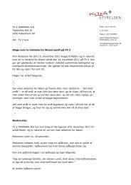 TV 2 DANMARK A/S Teglholms Allé 16 2450 ... - Kulturstyrelsen