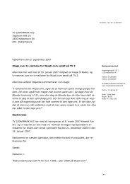 København den 5. september 2007 Klage over tv ... - Kulturstyrelsen