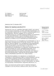 Klage over reklame for CopyGene udsendt på TV 2 - Kulturstyrelsen