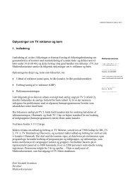 Rapport om børn og tv-reklamer, 1. udgave - Kulturstyrelsen